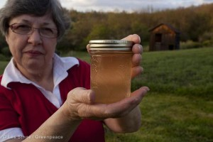 An example of fracked water in Pennsylvania.