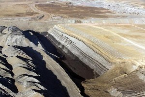 Strip mining for coal in the Powder River Basin