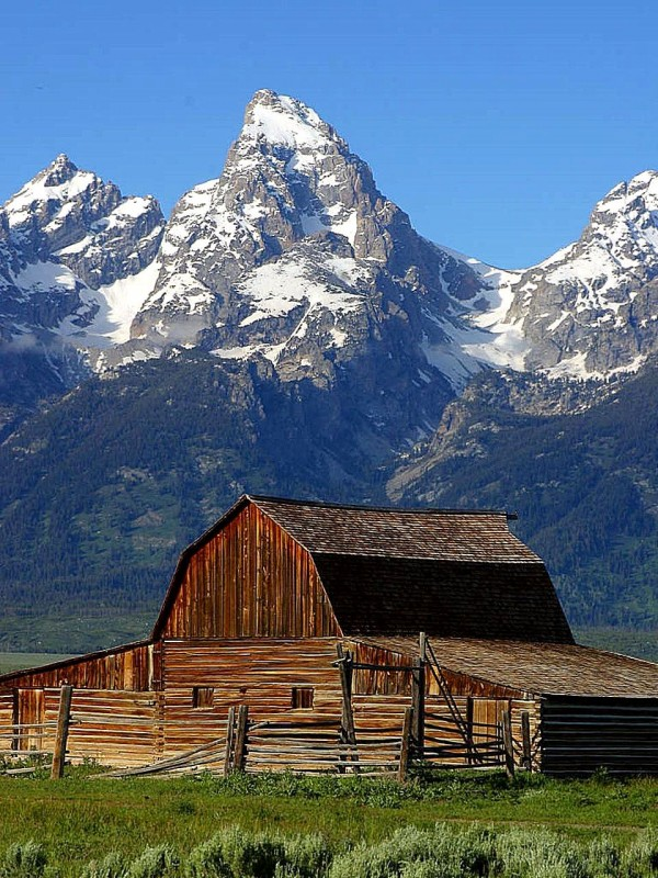 The Grand Teton National Park in Wyoming