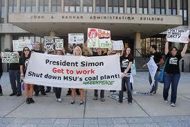 MSU.coal plant protest
