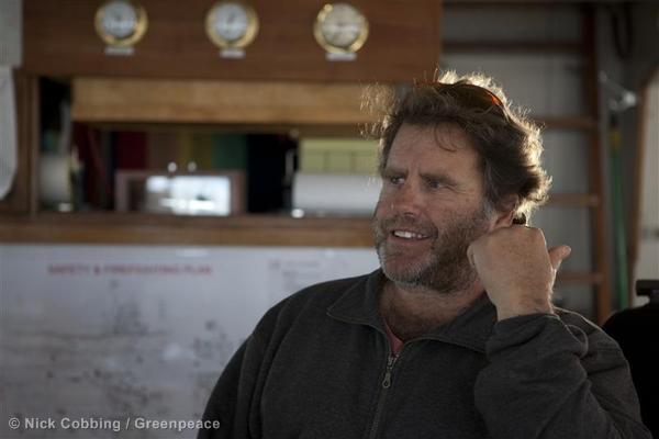 Captain Peter Willcox in Greenland