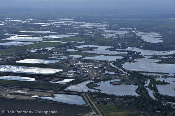Flood waters remain standing over a wide area of the South Platte River valley near Greeley.