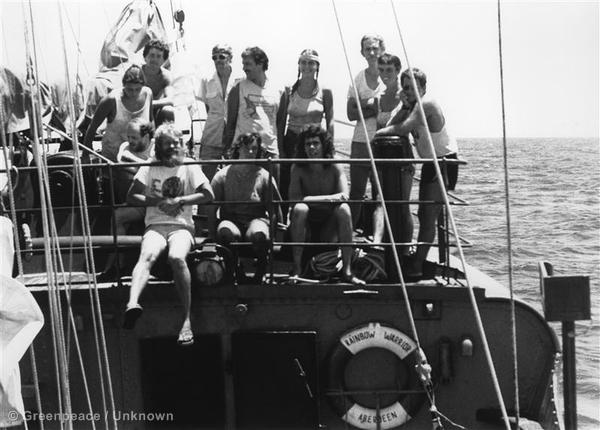 1985 'Rainbow Warrior' crew.