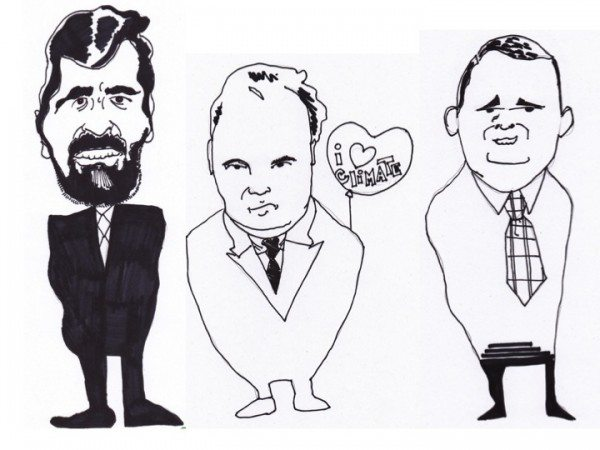 From left: Heartland Institute president Joseph Bast, lawyer James Taylor and contracted pseudo-scientist Craig Idso.