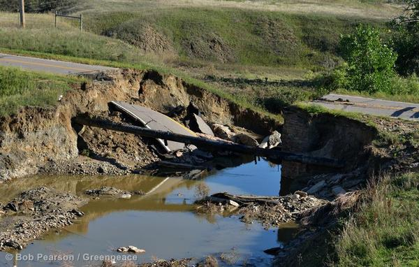 A washed-out bridge near Highway 287 and Dillon Road in Lafayette. Flood damage was wide-spread up and down the Colorado Front Range from heavy rains.