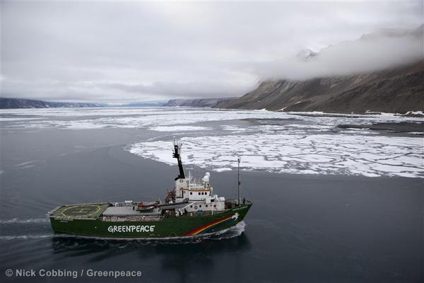 MY Arctic Sunrise in Greenland