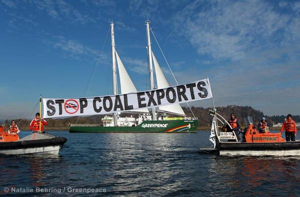 Rainbow Warrior Coal Export Terminal Site