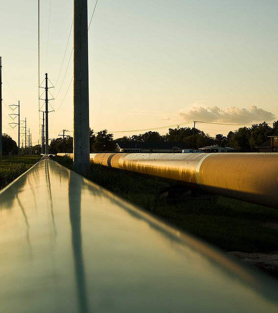 Construction of the Keystone Pipeline in Texas