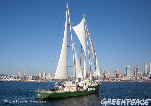 Rainbow Warrior Arrives In Seattle