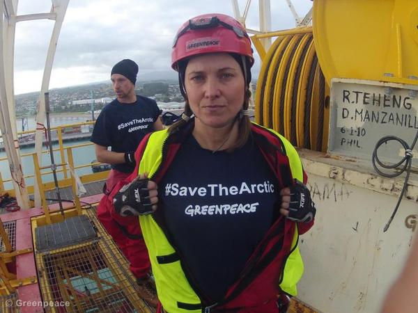 Activists Board Shell Drillship in NZ