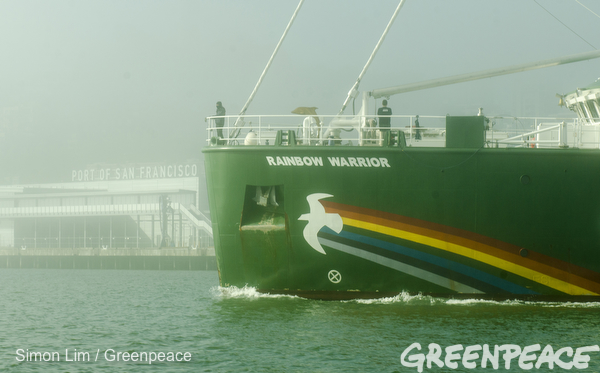 Greenpeace Rainbow Warrior Arrives In San Francisco