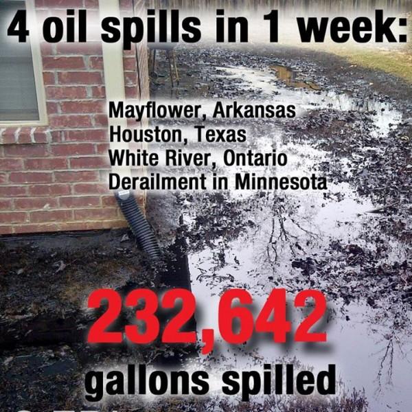 Four oil spills one week
