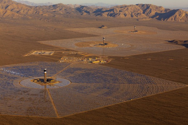 Ivanpah Solar Electric Generating Facility in California.
