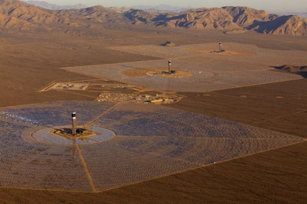 Ivanpah Solar Electric Generating Facility in California.