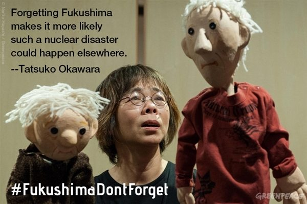 Ms. Okawara, a puppeteer, created a puppet show about the disaster.