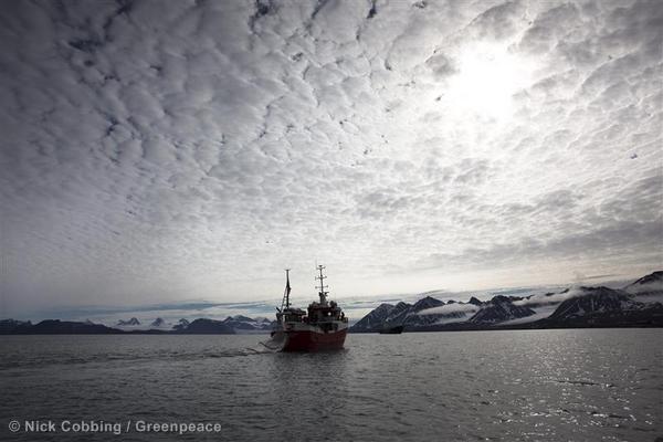 Fishing Vessel in Svalbard, in the Norwegian Arctic.