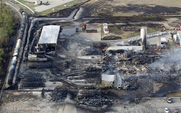 The smoldering aftermath of a fire at a Magnablend Inc. chemical facility in Waxahachie. The fire started Oct. 3, 2011, as workers mixed chemicals at the plant south of Dallas. Massive plumes of black smoke and bright orange flames shot into the sky, forcing schoolchildren and residents to evacuate or take cover indoors to avoid possible exposure to dangerous gases.