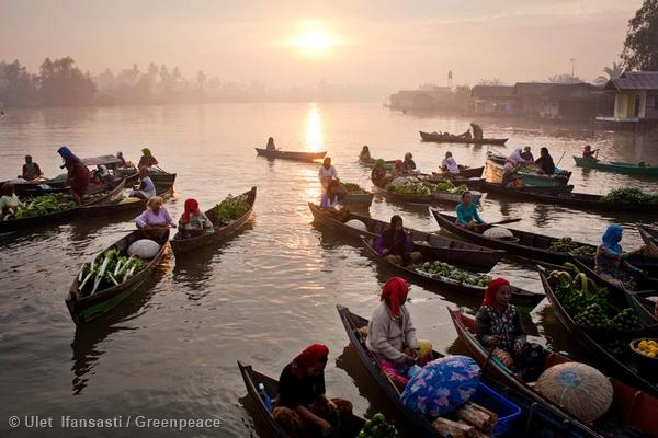 Floating Market in Kalimantan