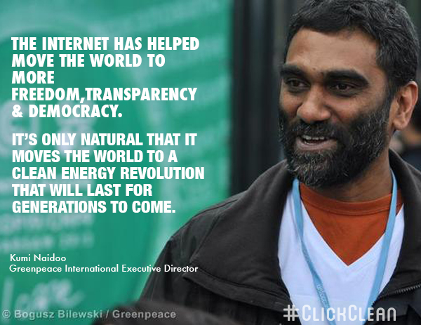 Kumi Naidoo ED of Greenpeace International