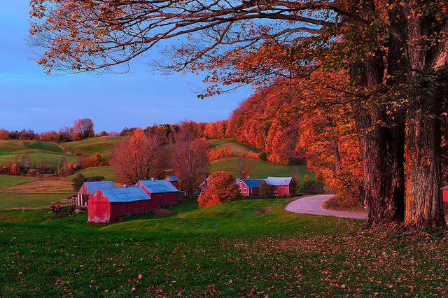 A little more Vermont porn. This time it's Jenne Farm, one of the most photographed farms in the US. Photo courtesy of Howard Ignatius.