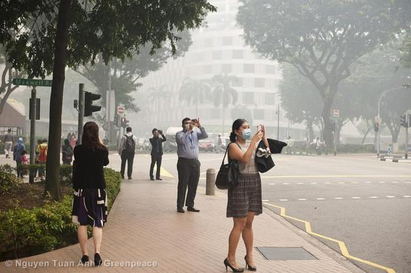 Singapore haze caused by Indonesian fires is a regular occurrence.