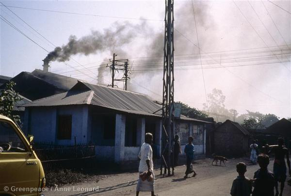 Annie took this photo of air pollution from a factory while doing campaign work for Greenpeace International in Bangladesh.