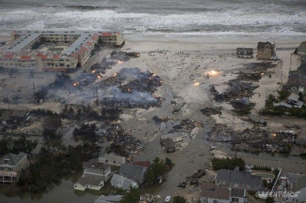 Fires burn in Lavallette in the aftermath of Hurricane Sandy on the New Jersey coast.