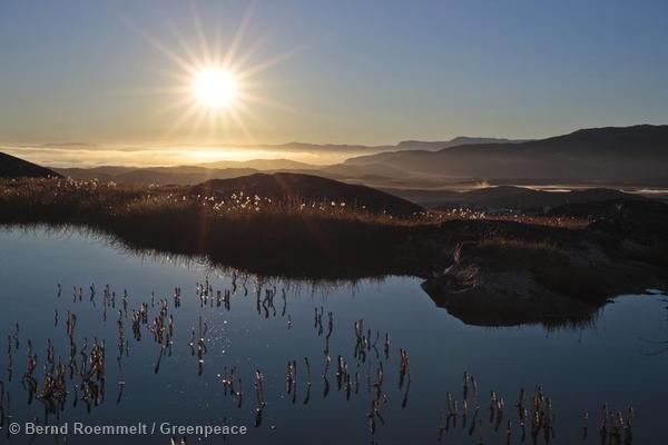 Morning sun IIulissat Greenland Sonnenaufgang in Iluissat Groenland