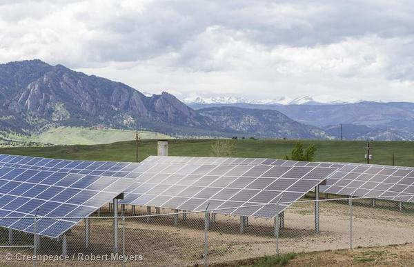 The 500-kilowatt Boulder Cowdery Meadows Solar Array, the first community solar garden to launch in Xcel Energy's Colorado service area since the passage of a law in 2010 permitting them.