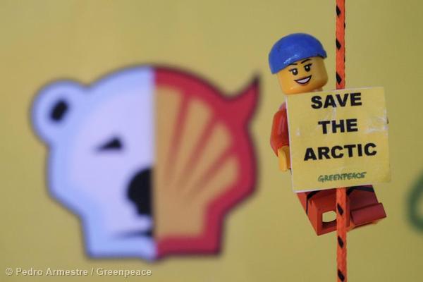 'Save the Arctic' LEGO Scene in Spain
