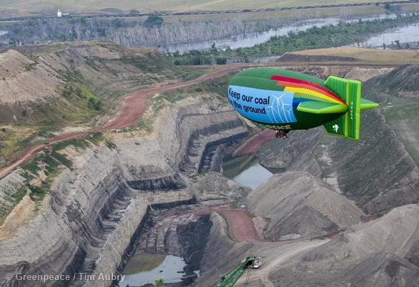 Airship Over Decker Coal Mine