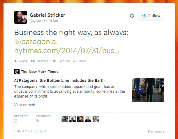 Gabe Stricker Tweet