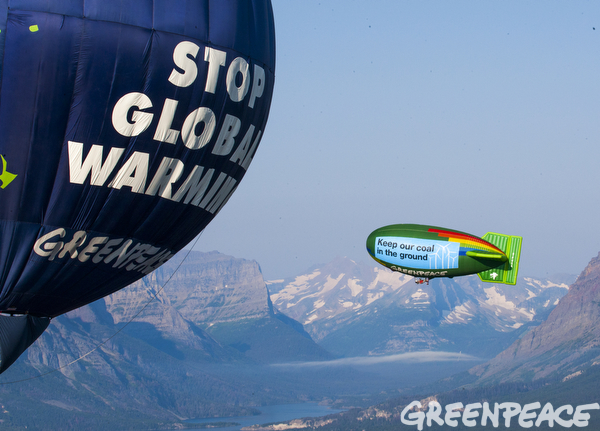 Airship, Balloon and Glacier National Park