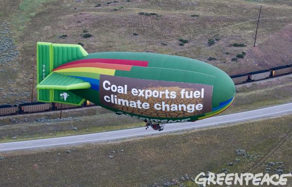 Airship Over Deck Coal Mine