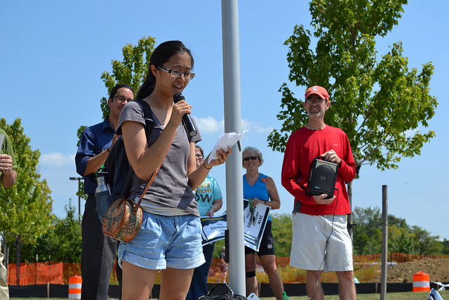 A student activist named Priscilla advocates for quality climate science education.
