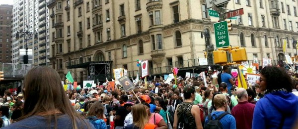 At the #peoplesclimate March on September 21st, 2014. Also recognized as the International Day of Peace.