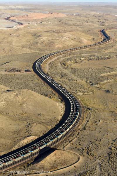 Coal Train in Powder River Basin in USA