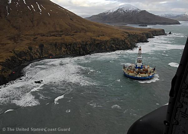 Kulluk Drill Rig Runs Aground in Alaska