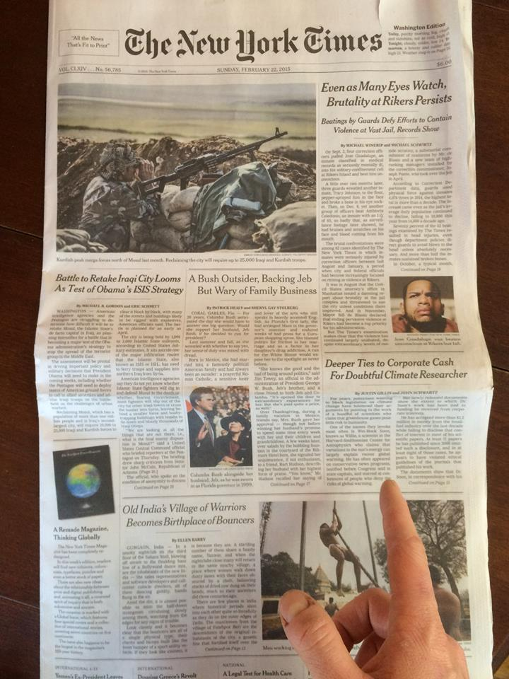 Willie Soon NY Times A1 2015