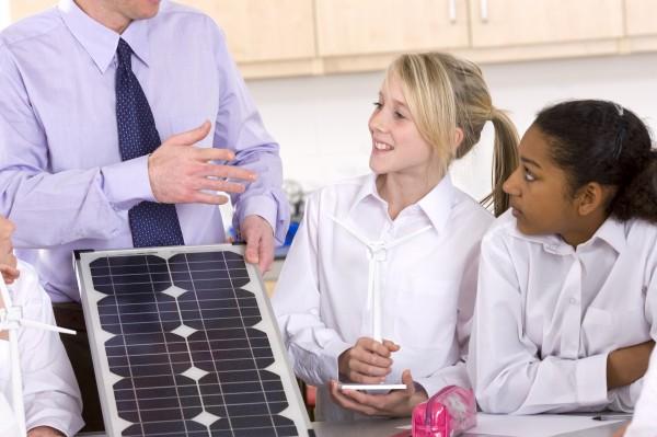 teacher kids at Solar Schools