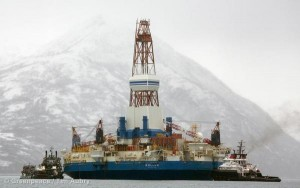 Shell's Kulluk Platform in Kiliuda Bay