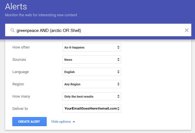 GoogleAlertsArctic