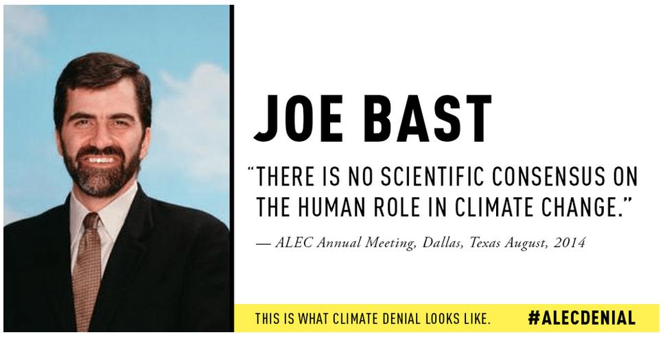 Joe Bast ALEC climate change denial