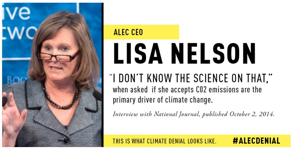 Lisa Nelson ALEC climate change denial