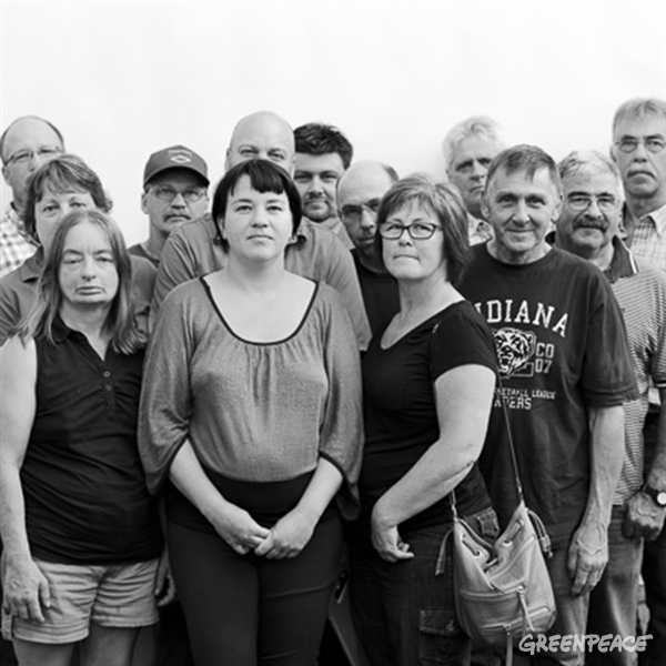 People affected by the proposed pipeline Energy East