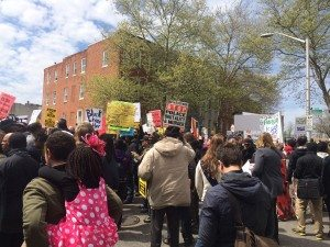 March for Freddie Gray, Baltimore April 2015.