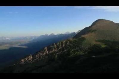 Nature Beauty Moment - Flying Over Glacier National Park