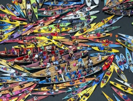 Kayaktivist Flotilla Seattle