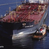 Bow of Exxon Valdez