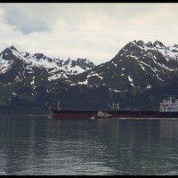 Exxon Valdez Spills Oil